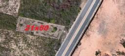 Cód. 10152 Locação de terreno em Nova Parnamirim medindo 21x50