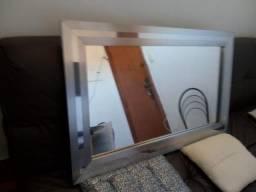 Espelho de aço escovado para banheiro ou sala