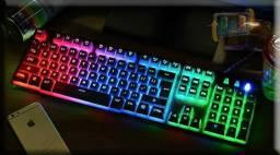 Confira ! Kit Teclado e Mouse Gamer Luminoso hmaston km-680