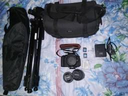 Câmera T5i + 6 acessórios