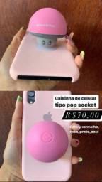 Caixinha celular tipo pop socket
