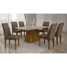 Linda Sala Jantar com 06 Cadeiras. Produto Novo Direto da Fábrica com Nota Fiscal