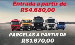 Caminhões com parcelas de R$ 1.600,00
