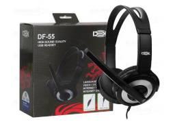 Fone Com Fio E Microfone Dex Df-55 Headset