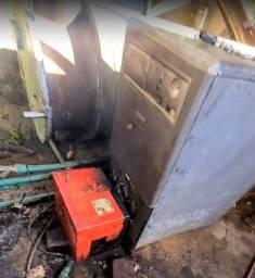 Caldeira Automatizada 50.000 kcal queimador Diesel ou Gás