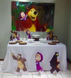 Baixooouuuu!!!!Vendo!!!! itens de decoração masha e o urso
