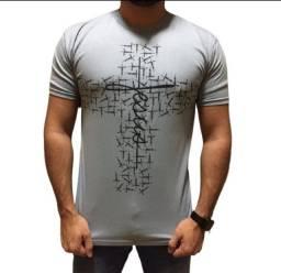 Camiseta Camisa Fé Gratidão Jesus Abençoado Evangélica Gospel Religiosa
