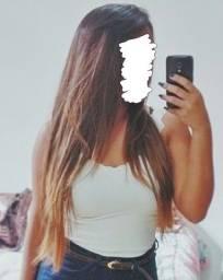 Peruca Lace Front com ombré hair