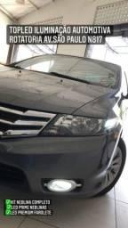 Honda Civic Kit Neblina Instalado Led Premium + Led Prime Farolete