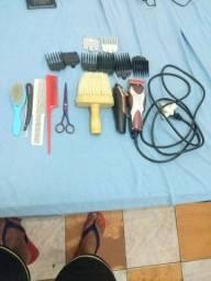 Máquina para barbearia kit completo