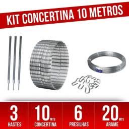 Kit completo Concertina Helicoidal 30cm - para 10 Metros