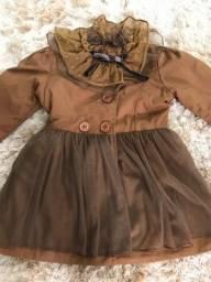 Vestido de frio  2 a 4 anos
