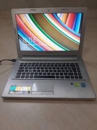 Notebook Z40-70 usado com defeito mas funcionando. Leia bem antes de comprar