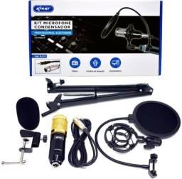 Microfone Condensador Kit