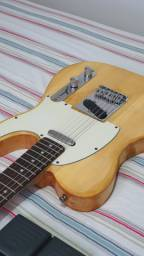 Guitarra Tele Squier by Fender com pedaleira zoom g1on