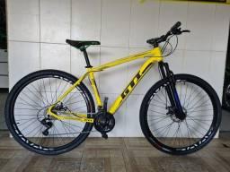 Bicicleta aro 29 freio a disco nova gti alumínio