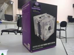 cooler master - hyper 212 led turbo white edition - dual fan - novo- nunca usado