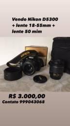Vendo câmera Nikon D5300 + lentes