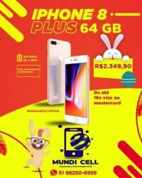 MUNDICELL SEMINOVO IPHONE 8 PLUS 64GB ANATEL DESBLOQUEADO
