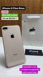 iPhone 8 Plus 64gb Ouro  Garantia saúde da Bateria 100%
