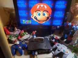 Nintendo 64 com 15 jogos