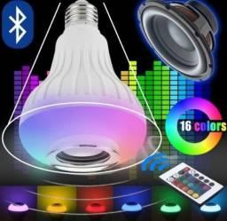 Lâmpada Led Bluetooth Party Controle Remoto Som E Luz