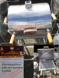 Churrasqueira a bafo em alumínio fundido frete grátis 6x sem juros