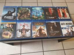 Blu-ray e DVD e 3D - 48 filmes originais - 2 reais cada.