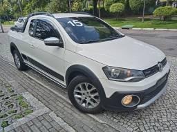 Saveiro 2015 Cross Cab Est 1.6 flex+gnv+completíssima+couro+rodas+revisada+novíssima!!!