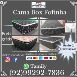 Cama Fofinha com Pillow Espuma Selada, Entrega Grátis