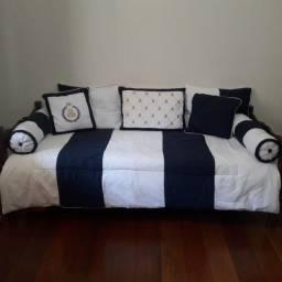 Kit cobre leito para cama de solteiro/babá