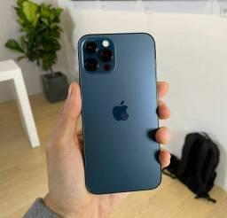 IPHONE 12 PRO MAX AZUL 256GB LACRADO NA CAIXA!!!!