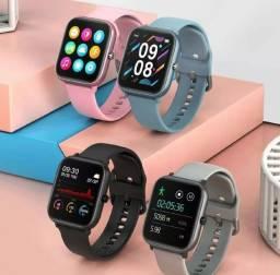 Relógio inteligente Smartwatch Colmi P8 SE Novo Cinza e Rosé