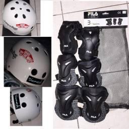 Kit de Proteção - Skate, Patins, Patinete, Bike - FILA