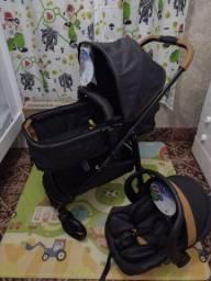 Kit Travel Sistem Carrinho Moisés Olympus Protege Galzerano + bebê conforto  Galzerano
