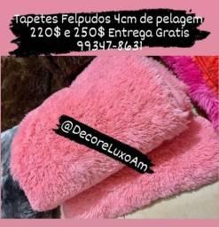 Felpudos Tapetes 4cm de pelagem ótima qualidade Entrega Grátis