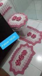 Jogo tapete croche banheiro