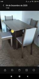 Conjunto sala de jantar 4 cadeiras Madesa