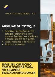 Auxiliar de Estoque em Rio Verde