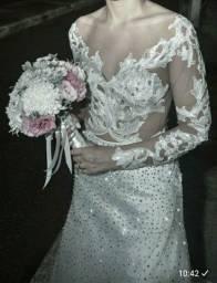 Vestido de Noiva Perfeito - Strass Swarovski