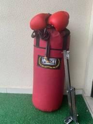 *PROMOÇÃO - NÃO PERCA - Kit Completo - Saco de Boxe/Suporte/Luvas/Corda