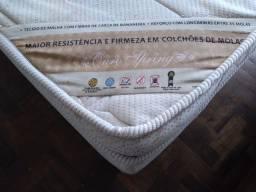 CAMA COLCHÃO MOLAS OURO SPRING ORTOBOM + BASE