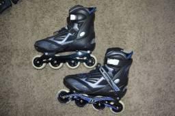 2 patins + 2 kits de proteção