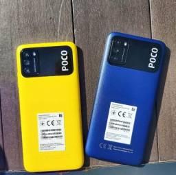 Lacrado - Celular Xiaomi Poco M3 - 64GB Rom Global / 4GB Ram + Capinha e Película
