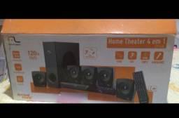 Home Theater novo na caixa