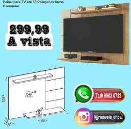 Painel pra TV temos a partir de 299 A vista com entrega grátis