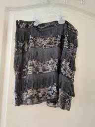 Mini saia de paetês zara