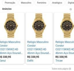 RELÓGIO DOURADO TOP