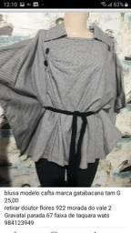 blusa modelo cafta marca gatabacana tam G 25,00<br>