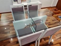 Linda mesa jantar 4 lugares (cadeiras inclusas) - barato para desocupar lugar